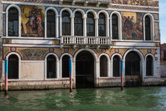 Old Facade along Typical Water Canal in Venice, Italy Royalty Free Stock Photos