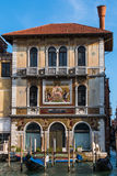 Old Facade along Typical Water Canal in Venice, Italy Royalty Free Stock Image