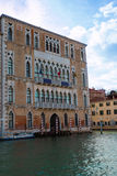 Old Facade along Typical Water Canal in Venice, Italy Royalty Free Stock Photography