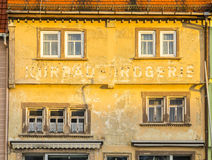 Old facade in Bad Frankenhausen Royalty Free Stock Photo