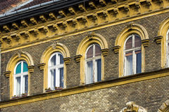 Old facade. Facade of a old building in Budapest Stock Photography