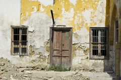 The old facade of the building. Cyprus Nicosia.  Stock Photography