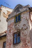 Old facade in the center of Lviv Royalty Free Stock Photos