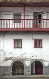 Old facade in Cudillero Royalty Free Stock Photo