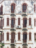 Old facade in Hanoi Stock Images