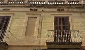 Old facade are balcon royalty free stock photography