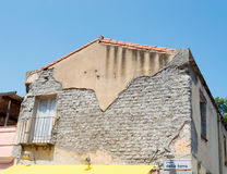 Old facade. In Piazza della Torre, Torregrande Royalty Free Stock Photography