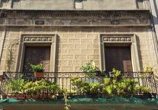 Old facade in reconstruction royalty free stock photos