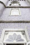 Old facade with typical tiles from Lisbon Stock Image