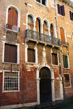 Old facade in Venice Stock Images