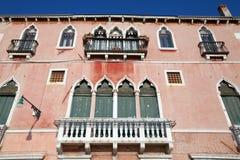 Old facade in Venice Stock Photography