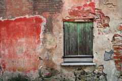 Old facade with window Royalty Free Stock Images