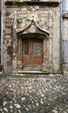 Old facade wood door Stock Photo