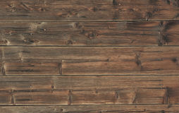 Old facade with wooden planks Stock Images