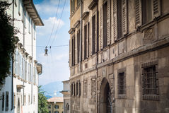 Old Facades in Bergamo Stock Images