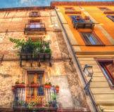 Old facades in Bosa Stock Photos
