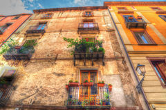 Old facades in Bosa Royalty Free Stock Images