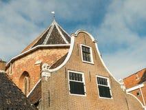 Old facades in Dokkum. Stock Photos