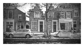 Old facades in Dutch city. Old facades in 800 years old city in the Netherlands stock images
