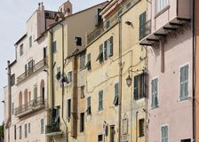 Old facades, imperia Royalty Free Stock Photography