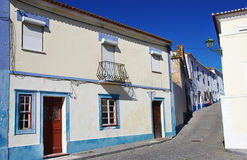 Old facades in old village of Portugal Royalty Free Stock Photo