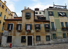 Old facades Venetian houses, Italy, Europe Royalty Free Stock Images