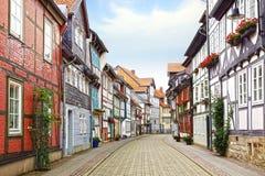 Old Fachwerk house in Wolfenbuttel. Royalty Free Stock Photos