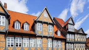 Old Fachwerk house in Wolfenbuttel. Niedersachsen, Germany Royalty Free Stock Photo