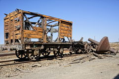 Old facilities freight wagon. Royalty Free Stock Image