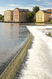 Old factories. Industrial landscape. Norrkoping. Sweden Stock Photography