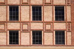 Old factory. Windows of renewed old factory Royalty Free Stock Photo