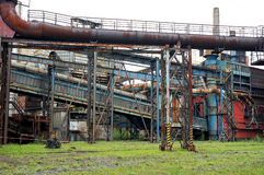 Old factory. Old ironworks area. Heavy industry Stock Photos