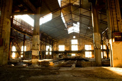 Old factory. Abandoned place in Piraeus (Athens - Greece royalty free stock photo
