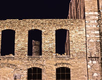 Old factory. Old abandoned brick factory in Scauri, a small town in Italy Royalty Free Stock Photo