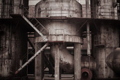 Old factory. With antique color Stock Images