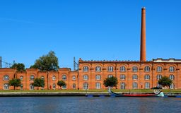 Old factory in Aveiro royalty free stock photography