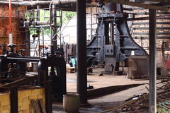Old factory B. Photograph of heavy duty press inside an old factory royalty free stock image