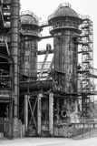Old factory blast furnace royalty free stock images