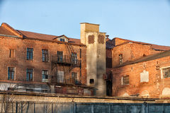 Old factory. Building of old factory 19 of an eyelid. The factory still works Royalty Free Stock Photo