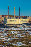 Old factory. Building in Kyrghyzstan Stock Photo