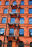 Old factory building in Manufactura rebuilt as a hotel in Lodz Royalty Free Stock Photo