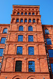 Old factory building in Manufactura rebuilt as a hotel in Lodz. Old brick factory building in Manufactura rebuilt as a hotel in Lodz,Poland Stock Photography