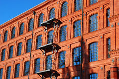 Old factory building in Manufactura rebuilt as a hotel in Lodz. Old brick factory building in Manufactura rebuilt as a hotel in Lodz,Poland Royalty Free Stock Photo