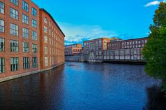 Old factory building of red brick Royalty Free Stock Photo