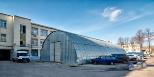 Old factory converted to offices and storage Royalty Free Stock Image