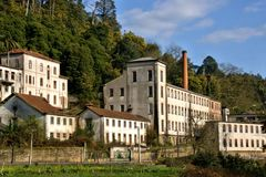 Old factory in Crestuma royalty free stock photography