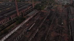 Old factory debris stock footage