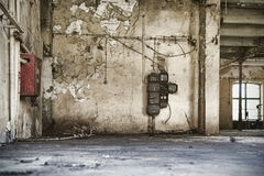Old factory enviroment, empty building Royalty Free Stock Photography