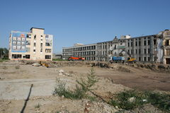Old factory. Former factory Proletarian (Proletarul in romanian) is down - a new residential neighborhood in the city Royalty Free Stock Photos