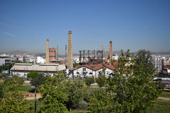 Old factory. An old gas factory located in Gkazi, Athens Stock Photo